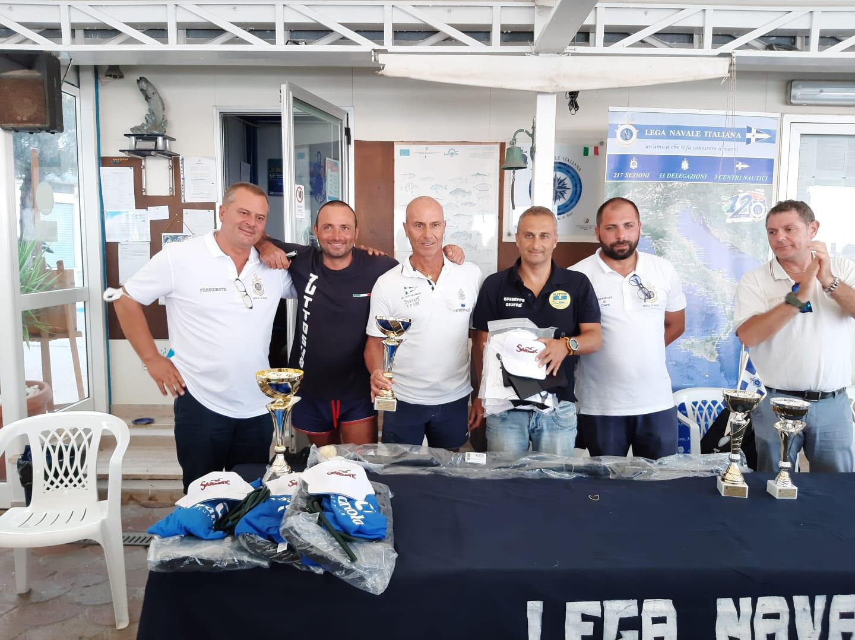 Coppa Puglia pesca in apnea podio Antonio Porproa