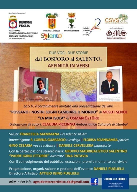 Dal Bosforo al Salento: sabato 4 l'ex Convitto Palmieri ospita i poeti turchi Senol e Ozturk
