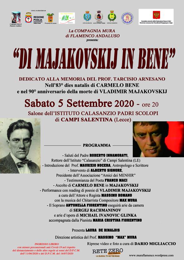 Di Majakovskij in Bene: domani a Campi Salentina memorial dedicato a Tarcisio Arnesano