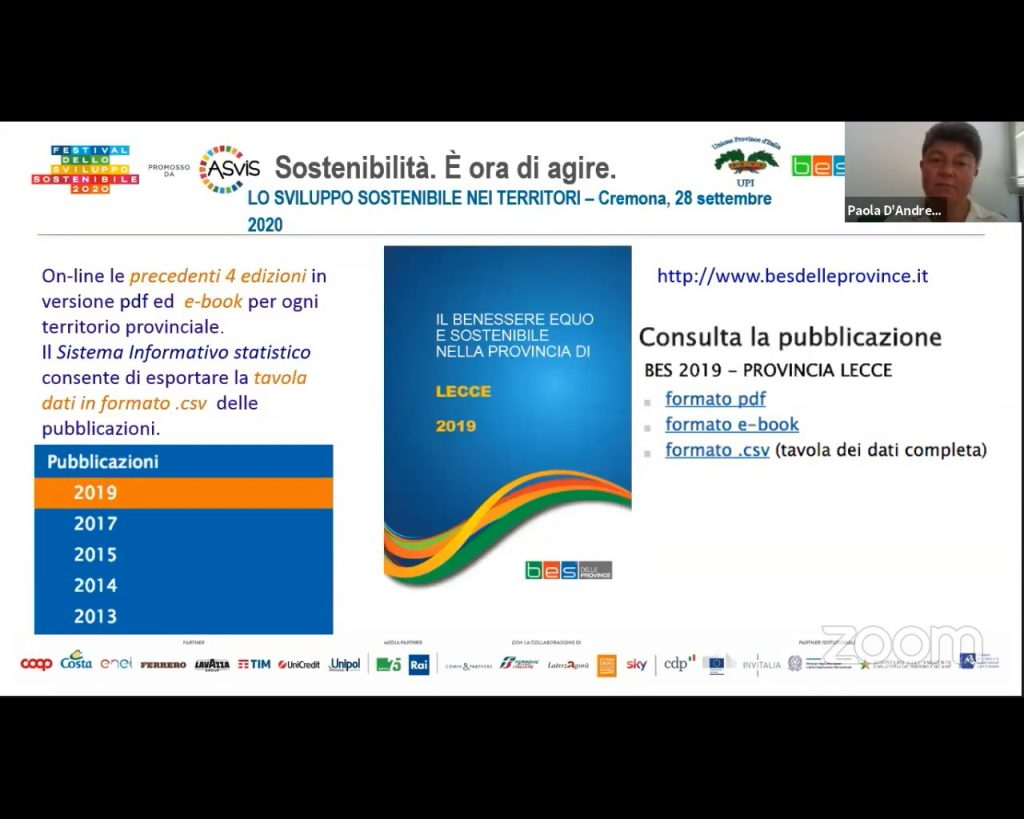 Festival dello sviluppo sostenibile: lunedi' 5 ottobre la Provincia di Lecce protagonista con un evento online