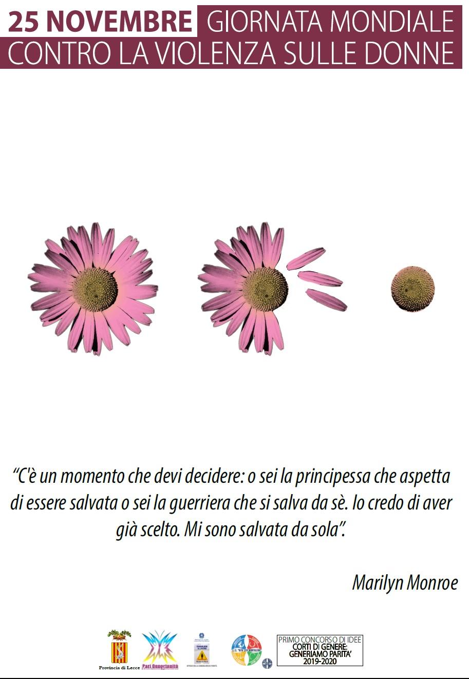 25 novembre Giornata contro violenza donne