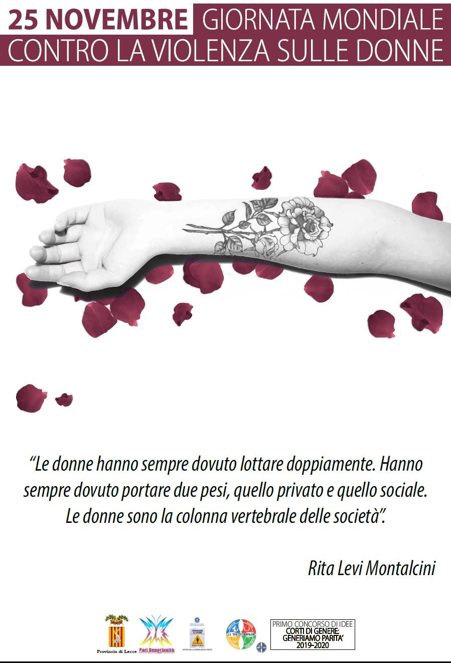 25 novembre Giornata internazionale contro violenza donne