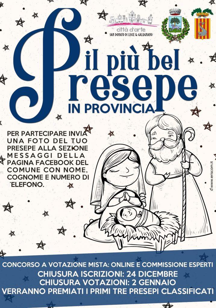 Il più bel Presepe in famiglia: Provincia e Comune di San Donato lanciano il concorso online per superare le distanze