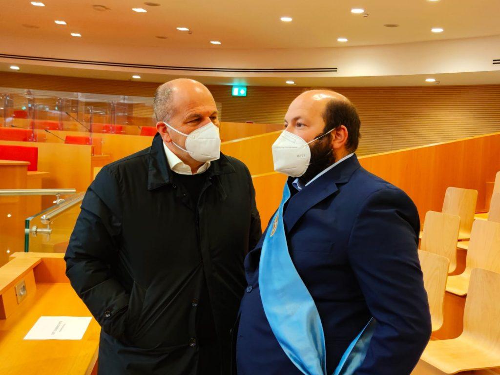 """Minerva all'incontro con Figliuolo e Curcio: """"Vaccinazioni, Province e Comuni lavorano a supporto delle attivita' sanitarie"""""""