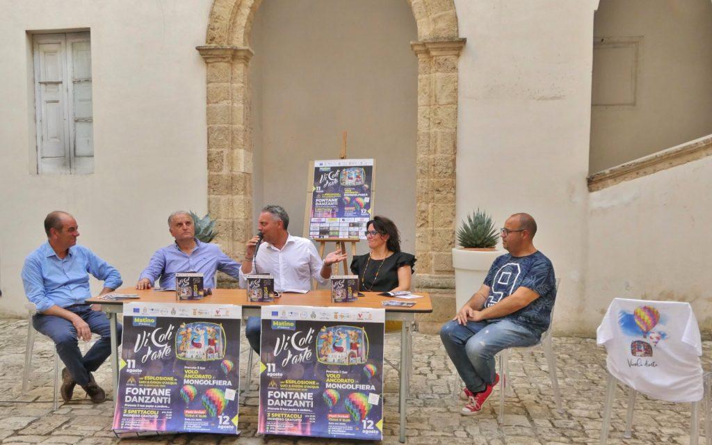 """""""Vicoli d'arte"""" a Matino: nel Palazzo Marchesale la presentazione della due giorni (11 e 12 agosto) giunta alla quinta edizione"""